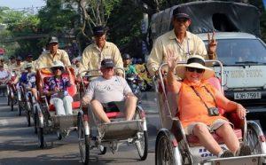 Велорикши для развлечения туристов в Нячанге